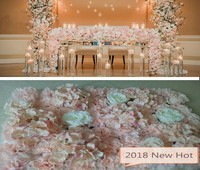 Wedding Flower Table Centerpieces decoration Flower wall backdrops Home Hotel Party Stage Road Lead Arch Pillar Flower Decor