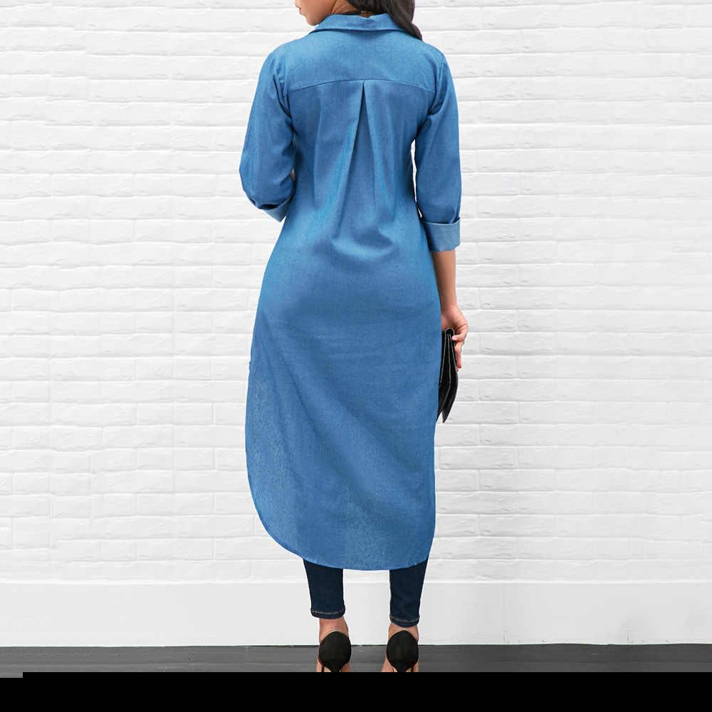 3d2a14cfe7f ... ШИК Женщины джинсы Блузка милые зимние женские топ Осень рубашка  фестивалей классика комфорт дамы новый Длинный ...