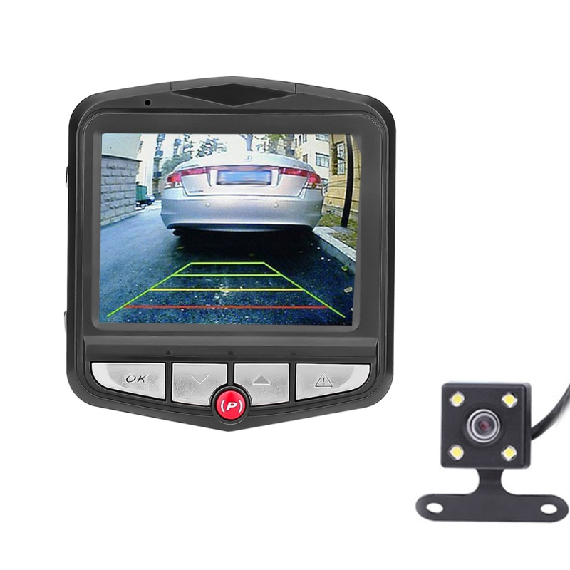 "Car-Styling 2.4"" HD 1080P Dual Lens Rearview Car DVR Camera Video Recorder Dash G-Sensor Automobiles 170 Degree car accessories"