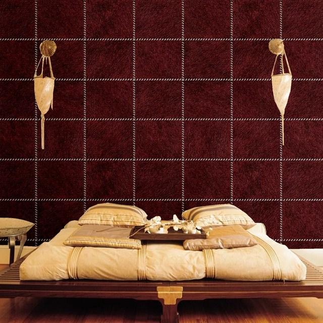 Retro behang roll bont lederen faux animal skin patroon woonkamer ktv muur achtergrond coverring - Behang voor restaurant ...