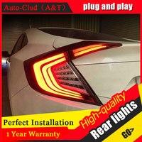 Car Styling for Honda Civic Taillights 2016 2017 for Civic LED Tail Lamp Rear Lamp DRL+Brake+Park+Signal led lights