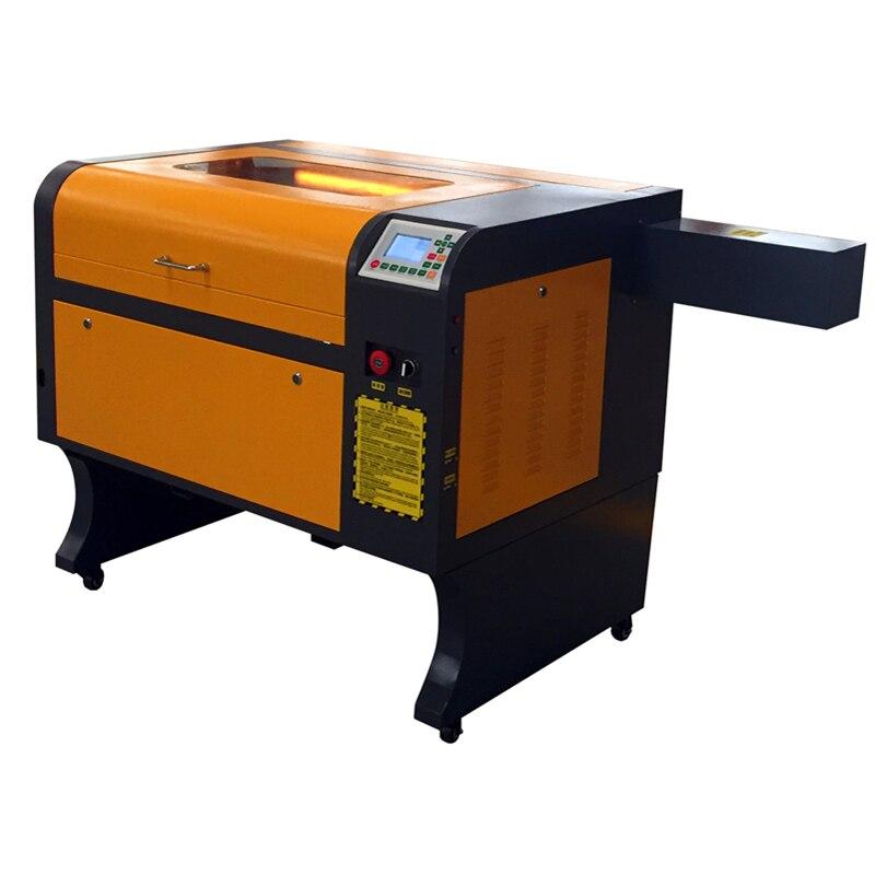 60 w co2 ruida trabalhar offline 4060 acrílico máquina de corte da gravura do laser de cristal de vidro de madeira de couro CO2 trabalho de laser muito tempo