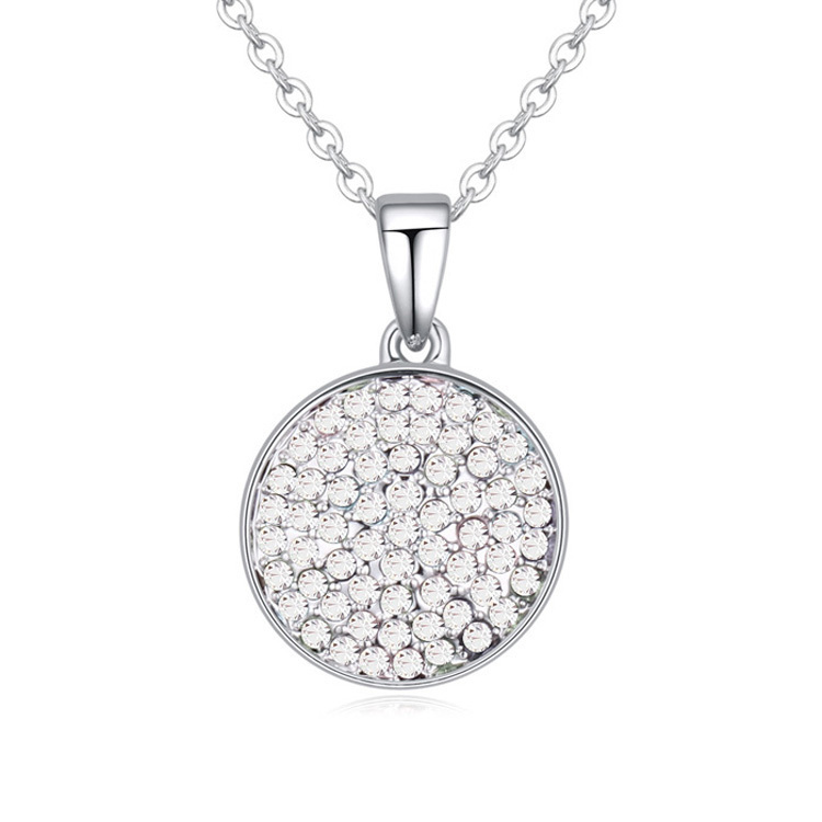 Simple necklace round pendant austrian crystal gifts for men woman simple necklace round pendant austrian crystal gifts for men woman brand jewelry cheap necklaces 4 options classic fine bijoux in pendant necklaces from mozeypictures Gallery
