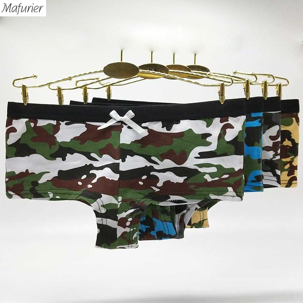 98edd2c09a7c Detail Feedback Questions about Mafurier Free Shipping 2018 New Women  Camouflage Cotton Panties Sexy Boyshort Underwear Female Lingeries Tanga  For ...