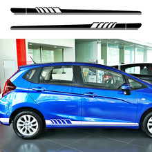 car sticker 2pc Boat paddle styling side door stripe graphic vinyl Car accessories custom for Honda fit 2014 on
