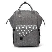Сумка для мамы и ребенка, модная универсальная сумка для мамы, большая емкость, 2019 Новый брендовый рюкзак с карманами и принтом
