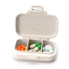 Portable Pill Case 3 Compartment Travel Vitamin Divider Container Storage Box Medicine Organizer DC88