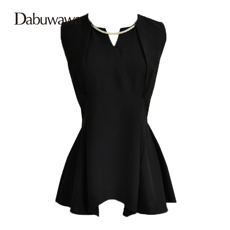 Dabuwawa Brand Women Top Sleeveless Blouse Work Office Clothes New Fashion Cool Blouses Ladies Chiffon Shirt Tops #D16BST082