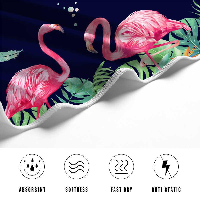 9894cf1006937 ... Flamingo Beach Towel Luxury Brand Microfiber Bath Towel Printed Sports Yoga  Mat Travel Sand Blanket For ...