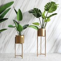 Bronze Flower Vase Nordic Home Decoration Villa Decoration European Simulation Plant Decoration