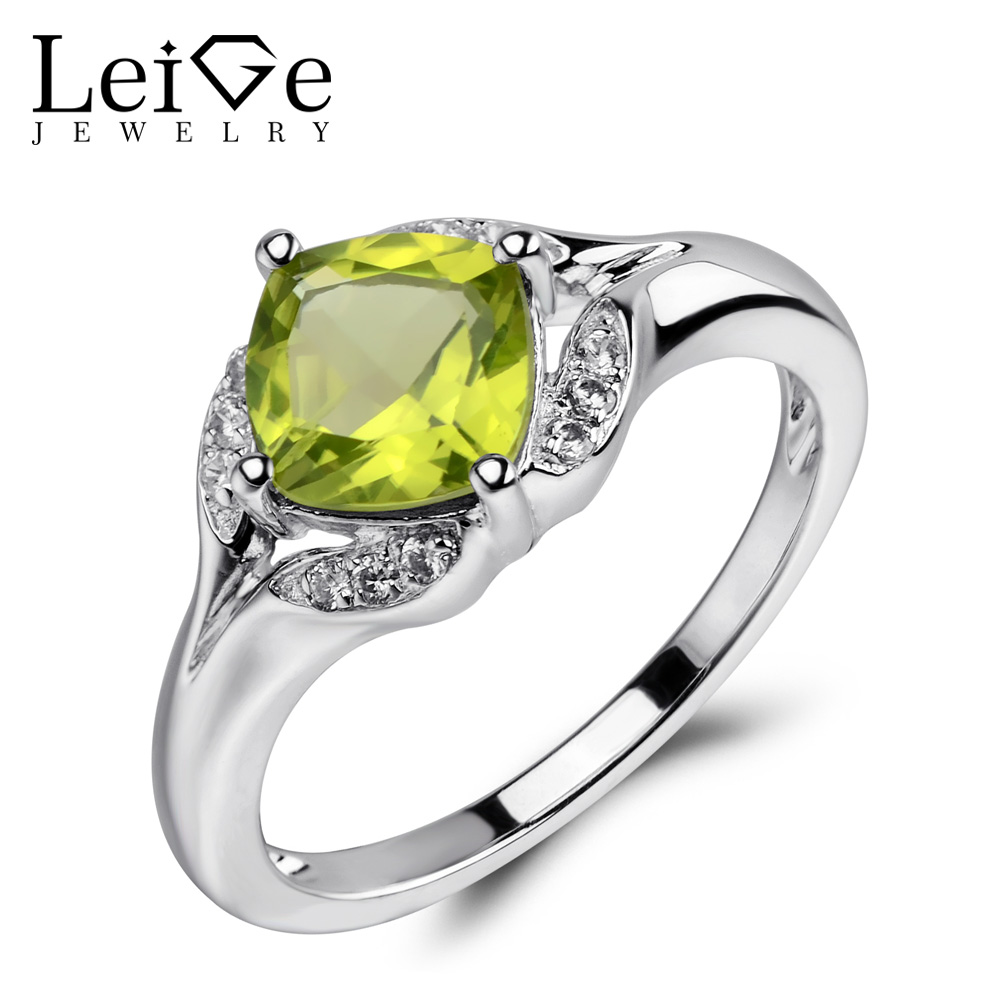 Leige Jewelry Peridot Ring Green Gemstone Engagement Wedding Rings for Women 925 Sterling Silver Anniversary Gift Fine JewelryLeige Jewelry Peridot Ring Green Gemstone Engagement Wedding Rings for Women 925 Sterling Silver Anniversary Gift Fine Jewelry