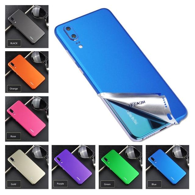 Caso de Telefone Filme gelo Equipado Cobertura Completa Eco Decoração de Volta Protetor da Superfície Celular Etiqueta Para Huawei P20 Pro P10 Plus p9