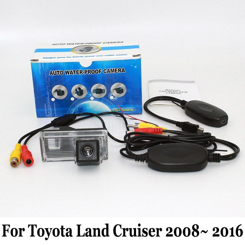 Drátová nebo bezdrátová zadní kamera pro vozy Toyota Land Cruiser LC 200 LC200 V8 2008 ~ 2016 / Noční vidění / HD širokoúhlý objektiv