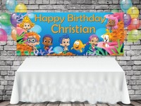 Custom Bubble Guppies Birthday Sea Grass background High quality Computer print party photo backdrop