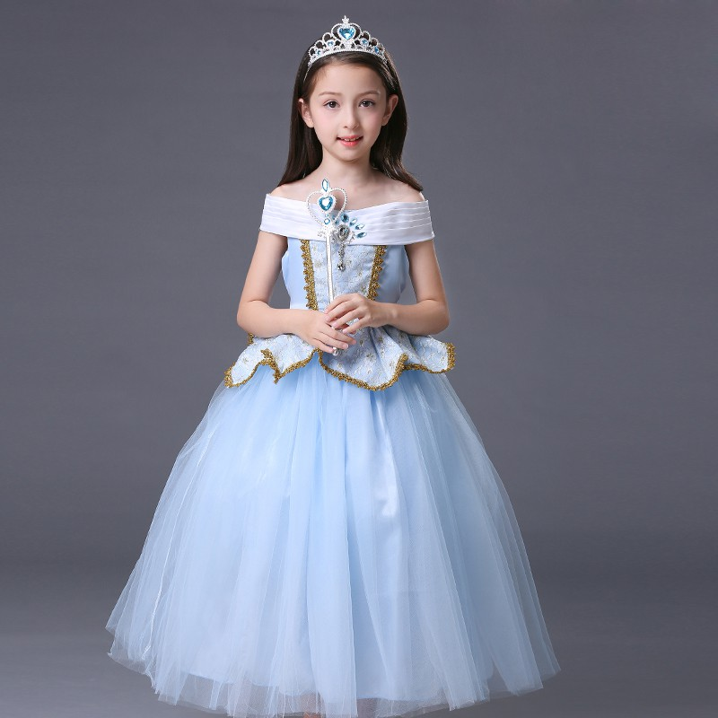 Cinderella Dress Girls Aurora Dresses Children Halloween Cosplay Clothing Kids Fantastic Princess Belle Dress Girl Prom Dress girls dresses trolls poppy cosplay costume dress for girl poppy dress streetwear halloween clothes kids fancy dresses trolls wig