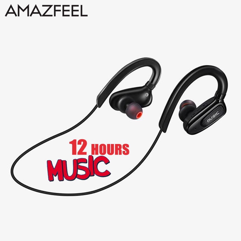AMAZFEEL S5 Wireless Headphones Bluetooth Sports Running Headset Headphone Handsfree Calls with Mic 12 Hours Music time philips bluetooth headphone shb3060 wireless headset with micro usb lithium headband battery 11 hours music time for s9 s9 plus