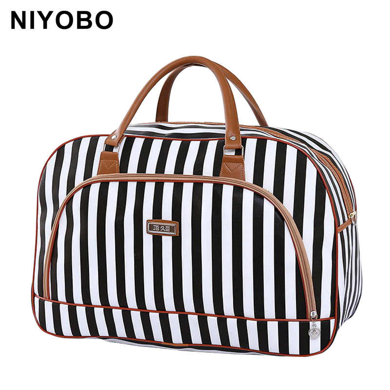 Women Travel Bags 2018 Fashion Pu Leather Large Capacity Waterproof Print Luggage Duffle Bag Casual Travel Bags PT1083