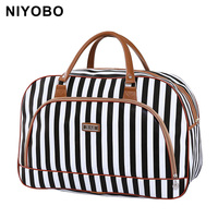 Women Travel Bags 2016 Fashion Pu Leather Large Capacity Waterproof Print Luggage Duffle Bag Casual Sport