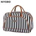 Las mujeres bolsas de viaje 2018 de moda de cuero de la Pu de gran capacidad impermeable impresión equipaje bolsa de bolsas de viaje PT1083