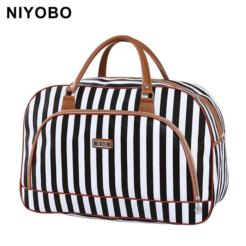 Bolsas de viaje de las mujeres 2016 de moda de cuero de la PU de gran - Bolsas para equipaje y viajes