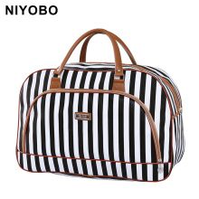 Women Travel Bags 2016 Fashion Pu Leather Large Capacity Waterproof Print Luggage Duffle Bag Casual Sport Travel Bags PT1083