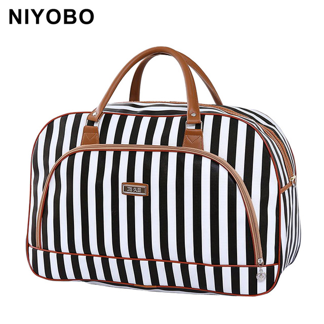 Women Travel Bags 2017 Fashion Pu Leather Large Capacity Waterproof Print Luggage Duffle Bag Casual Travel Bags PT1083
