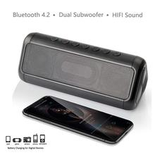 30Hours Playtime 12W Portable Speaker Bass Bluetooth Solar Energy Waterproof Subwoofer Soundbar Phone Woofer for xiaomi