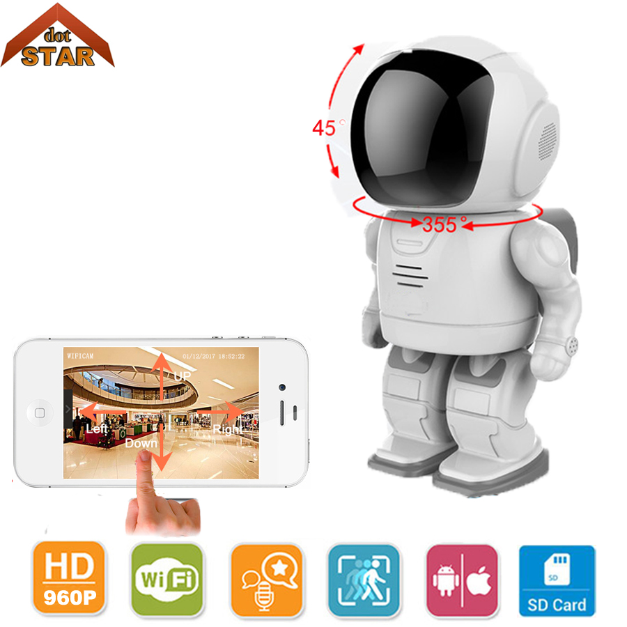 Robot camera Wifi 960P 1.3MP HD Wireless Camera Stardot support two-way audio Night Vision Home Baby Monitor Wifi CCTV Camera howell wireless security hd 960p wifi ip camera p2p pan tilt motion detection video baby monitor 2 way audio and ir night vision