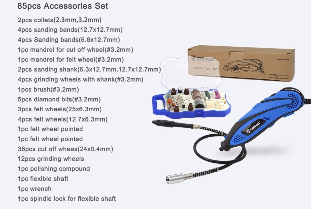 HTB1uXr6RXXXXXbyXFXXq6xXFXXX3 - DEKO 220V 135W 32000rpm Variable Speed Rotary Tool Dremel Style Electric Mini Drill w/ Flexible Shaft & 2 Sets for Selection
