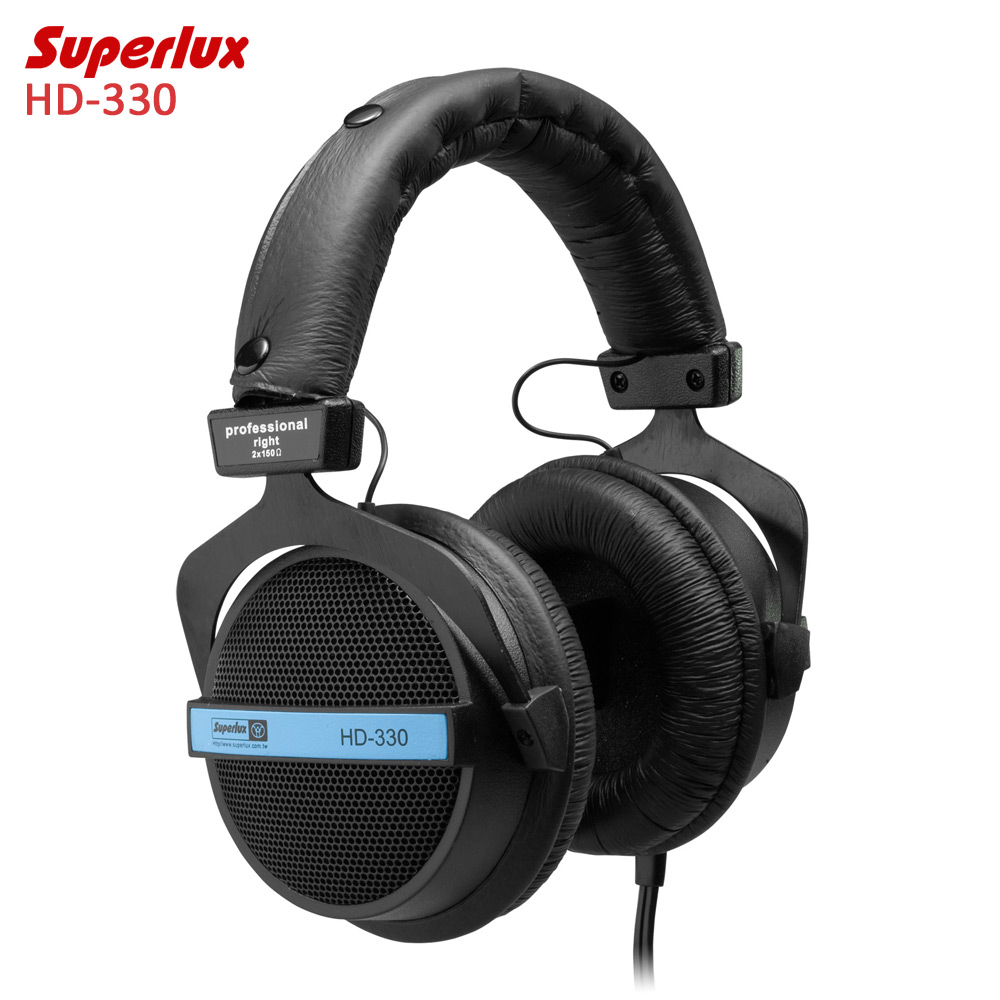 Superlux HD-330 Audiophile HiFi Stereo Headphones Semi-open Dynamic Clear Sound Soft Earmuff Single-sided Cable Enhanced Bass