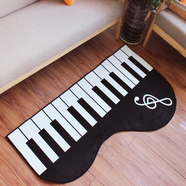 online shop cartoon black and white piano pattern living room
