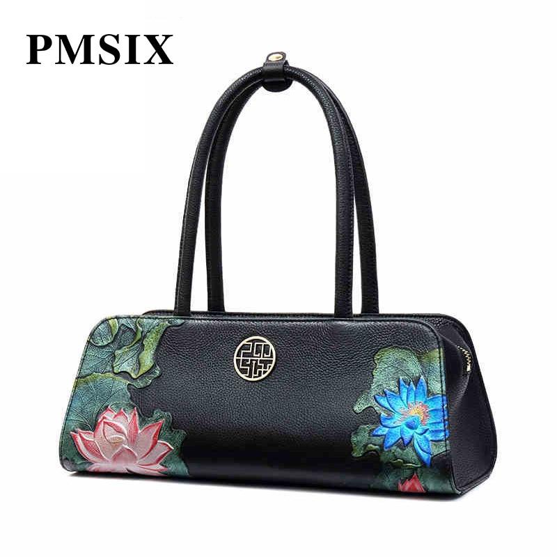 Pmsix Luxueux Cuir Qualité Relief En Sacs À Femmes Feminina Transporter Pour Bolsa Élégant Supérieure Sac Femme Main rrOCqw