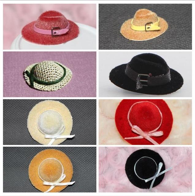 bac312410f258 Diy handmade doll mini doll house dolls strawhat gentlewomen cap little  princess hat cowboy hat