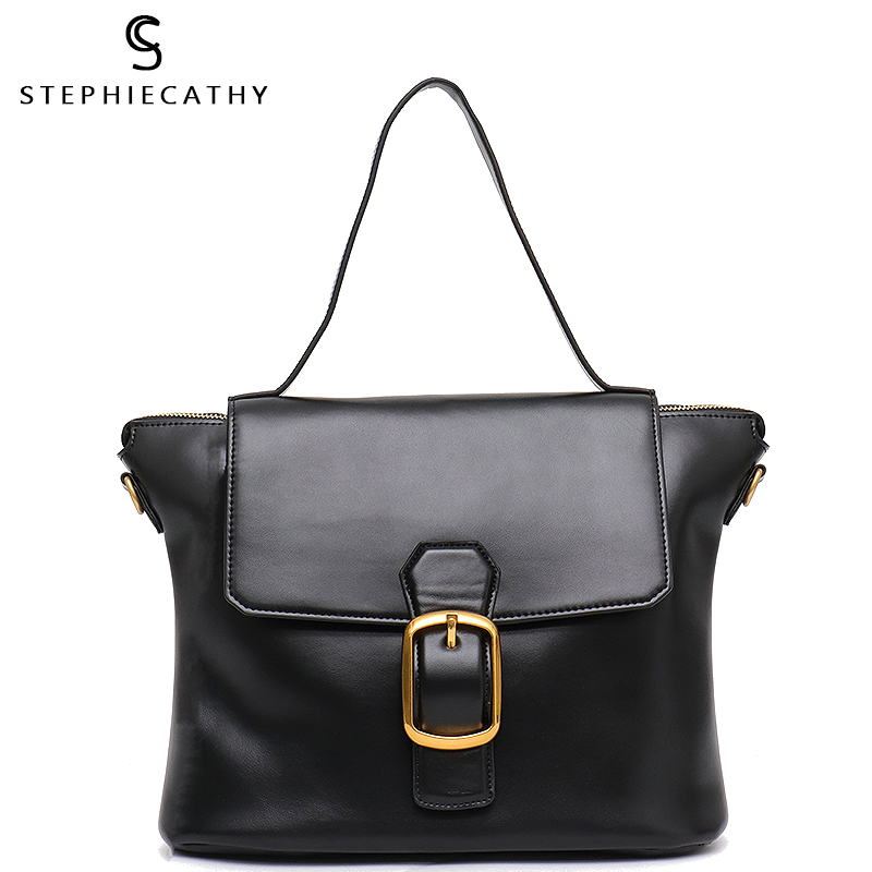 SC Brand Style Luxury Leather Trapeze Bags for Women Flap Cover High Quality Top handle Bags
