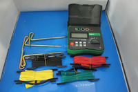 DY4300 4 Terminal Earth Ground Resistance and Soil Resistivity Tester 0~20.99k ohm