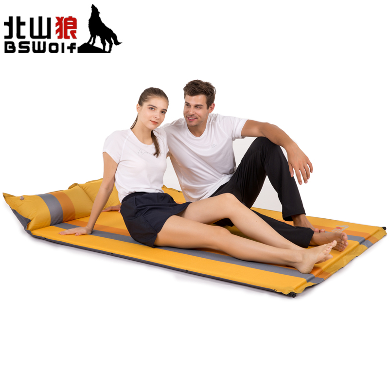 Здесь продается  BSWolf Outdoor Camping Mats Double People PVC Inflatable Automatic Cushion Tent Air Mattress Dampproof Pad Soft  Спорт и развлечения