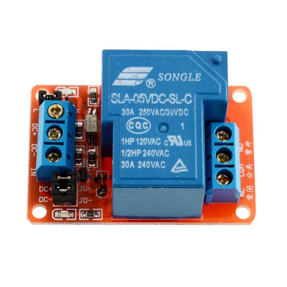 5V 30A High Power 1-Channel Relay Module with Optocoupler H/L Level Triger for Arduino Mega AVR PIC DSP ARM SLA-5VDC-SL-A