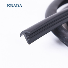KRADA T type auto rubber seals 1.6m windshield seal adhesive strips car styling for vw bmw e36 e39 e60 x1 passat mazda kia rio