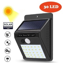 Solar Motion Sensor light 30 Pcs LED Outdoor Waterproof Energy Saving Path Home Led Pir