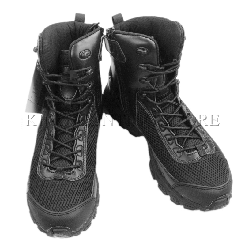 Durable Black Sand Color Tactical Boots Mesh Breathable Wearable Paintball Airsoft Combat Training Boots 2016 kelme football boots broken nail kids skid wearable shoes breathable
