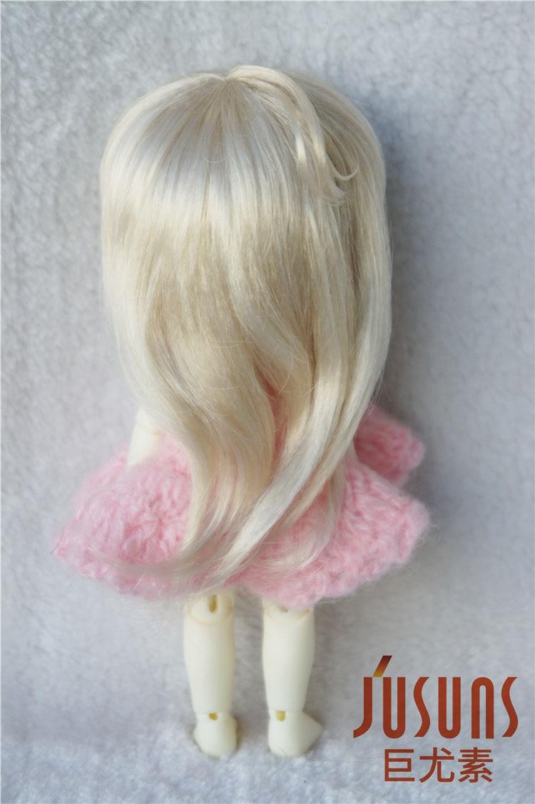 JD176 1/8 sintetis makiar anak patung wig panjang updo pigtail rambut - Anak patung dan aksesori - Foto 3
