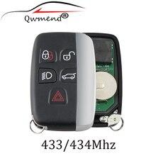 5 düğmeler uzaktan anahtar takım elbise 433/434Mhz Land Rover Discovery 4 için Freelander Range Rover Sport Evoque uzaktan akıllı anahtar Fob
