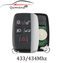 5Buttons Remote Key Suit 433/434Mhz for Land Rover Discovery 4  Freelander for Range Rover Sport  Evoque Remote smart key Fob