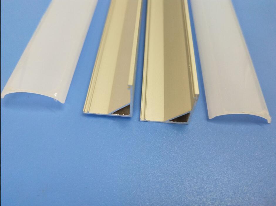 bezpłatna wysyłka narożny profil aluminiowy z pokrywą i - Oświetlenie LED - Zdjęcie 6