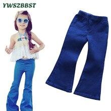 2017 Spring Girls Jeans Kids Denim Pants Toddler Girl Soft  Flares Children Summer Trousers bell-bottomed