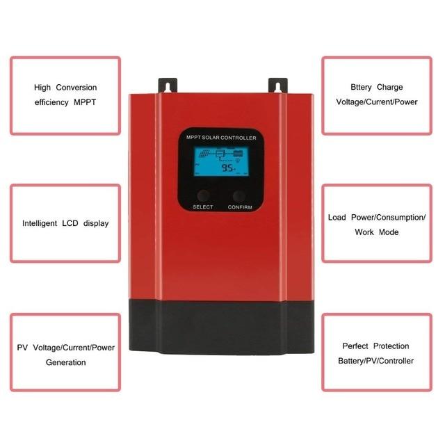 eSmart3 MPPT 40A Solar Charge Controller Max 150VDC Input Back-light LCD Solar Regulator RS485 Port with LCD12V 24V 36V 48V Auto 3