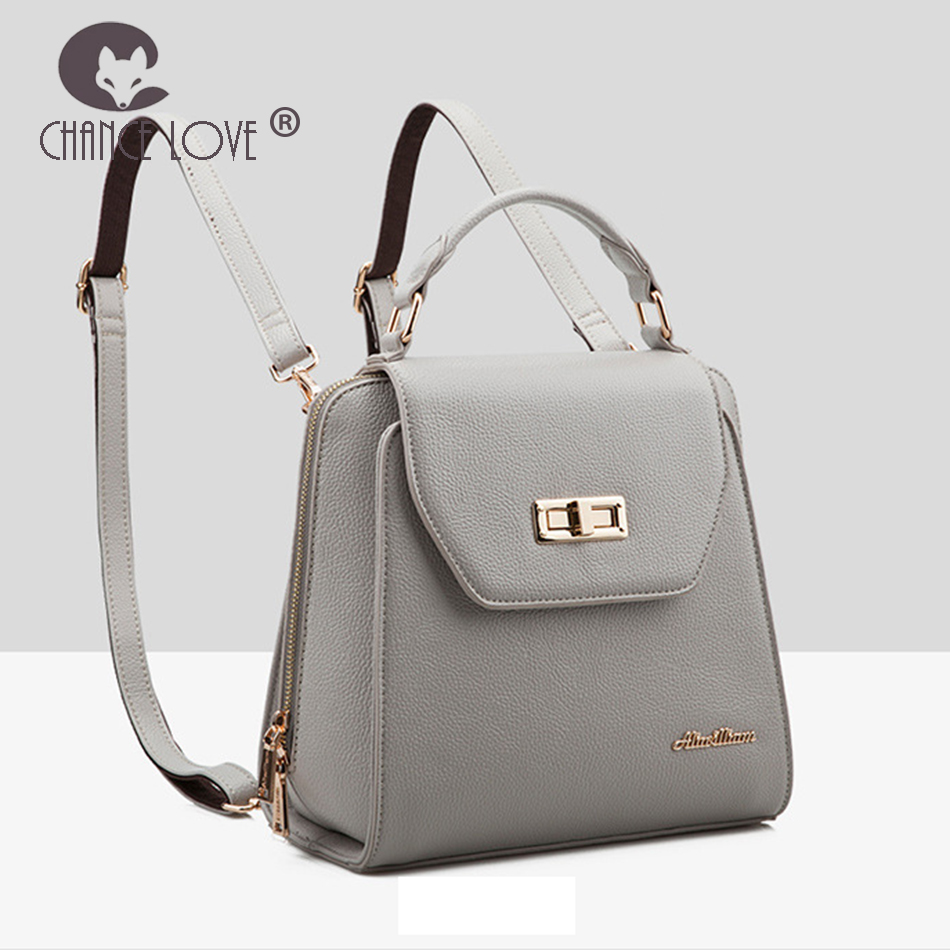 Chance Love new Backpack women bag 2018 new mult function Genuine leather backpack bag Fashion casual wild bag shoulder bag new genuine leather women oil nubuck retro women backpack casual backpack casual shoulder bag bucket bag a4625
