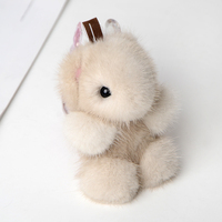 JKP New luxury mink fur pendant key chain Panda doll fur phone pendant ornaments accessories for bags trinket on backpack XP 07