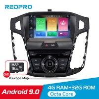8 ips 4G ram Android 9,0 автомобильный стерео dvd плеер для Ford Focus 2011 2014 gps Navi Видео Радио wifi FM Bluetooth мультимедиа