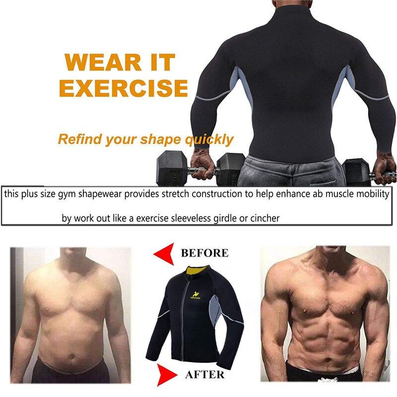 Image 2 - NINGMI Slimming Belt Men Waist Trainer Corset Vest Jacket with Zipper Hot Shirt Neoprene Sauna Weight Loss Body Shaper Tank Tops-in Shapers from Underwear & Sleepwears